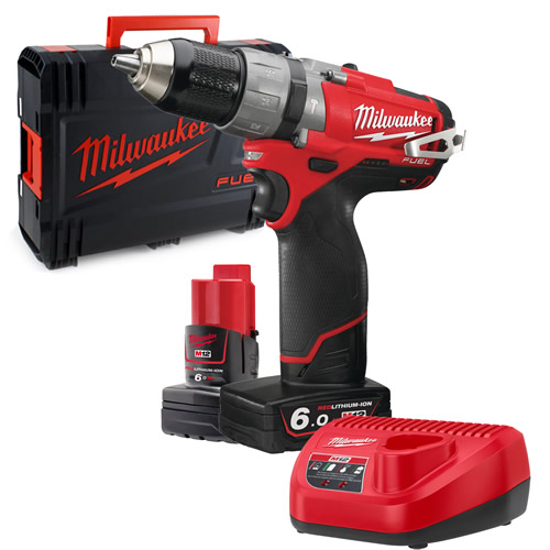 Milwaukee M12 CPD-602X Milwaukee 12V Fuel 6.0Ah Lithium-ion Cordless Brushless Hammer Drill/Driver