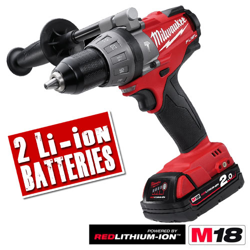 Milwaukee M18CPD202C Milwaukee Fuel 2.0Ah 18V Lithium-ion Hammer Drill/Driver