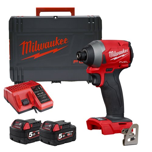 Milwaukee M18 FID2-502X 18V M18 FUEL Impact Driver with 2 x 5Ah Batteries, Charger and Case