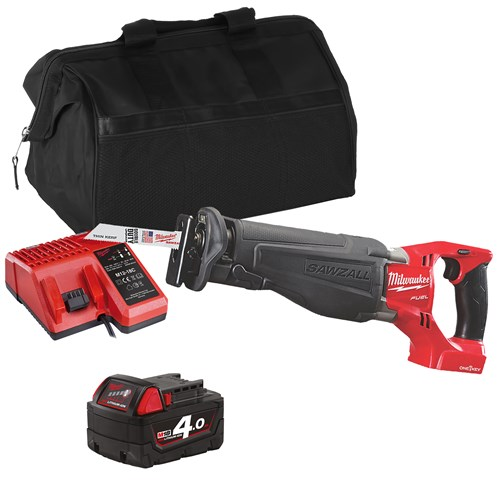 Milwaukee ONESXITS 18v M18 ONE-KEY Sawzall with 1 x 4Ah Battery, Charger and Bag