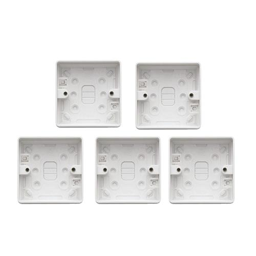 MK by Honeywell 2180WHIPK5 1 Gang 32mm Surface Box - Pack of 5
