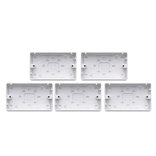 MK by Honeywell 2182WHIPK5 2 Gang 32mm Surface Box - Pack of 5