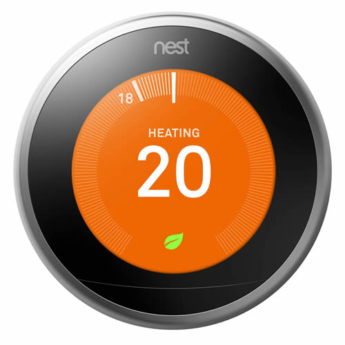 Nest T3010GB Learning Thermostat 3rd Generation - Stainless Steel