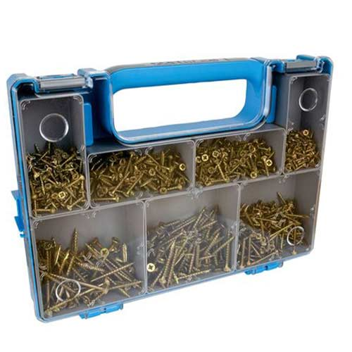 Optimaxx Wood Screws Compact Case - Pack of 1000