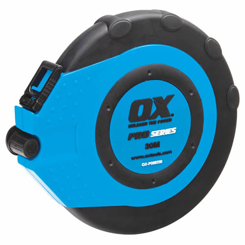 OX Tools P028330 OX Pro Fibreglass Closed Reel Tape 30m/100ft