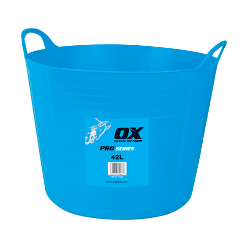 OX Tools P110642 Ox Pro Heavy Duty Flexi Tub (42 Litre/9.2 Gallon) (10 Pack)