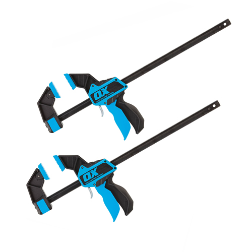 """OX Tools OX-P201218PK2 PRO Heavy Duty Bar Clamp 18""""/450mm - Pack of Two"""