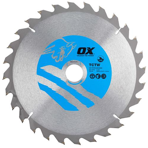 OX Tools CTW2503028 250mm 28T Wood Cutting Circular Saw Blade