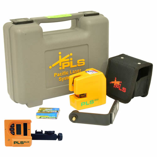 Pacific PLS180G PLS Palm Laser Line Tool Kit & Laser Detector (Green)