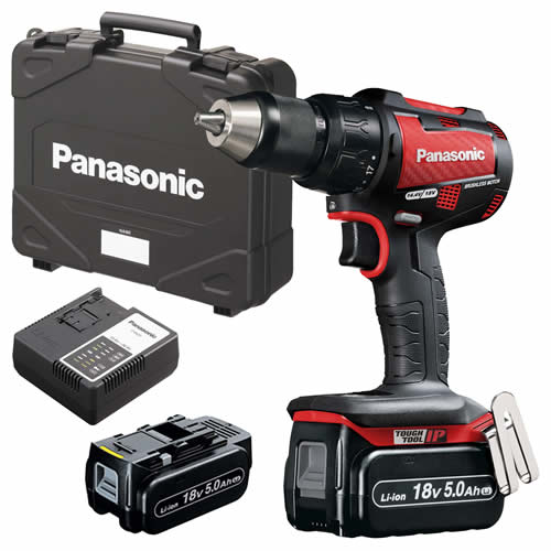 Panasonic EY79A2LJ2G31R Panasonic 18v Brushless Hammer Drill Driver 2 x 5.0Ah Batteries