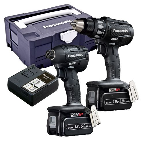 Panasonic EYC215LJ2G31 Panasonic 18v Brushless Impact Driver & Drill Driver 2 Piece Kit in Tanos