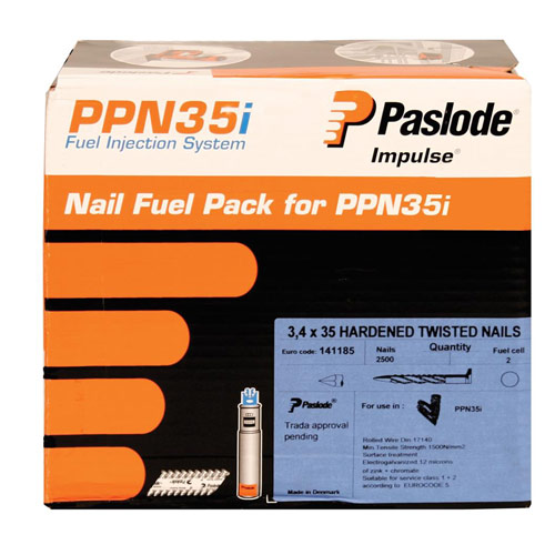 Paslode 141185 Paslode 35mm Positive Placement Nails (2500 + 2 cells)