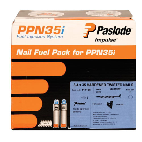 Paslode 141189 Paslode 35mm Positive Placement Nails (1250 + 1 cell)