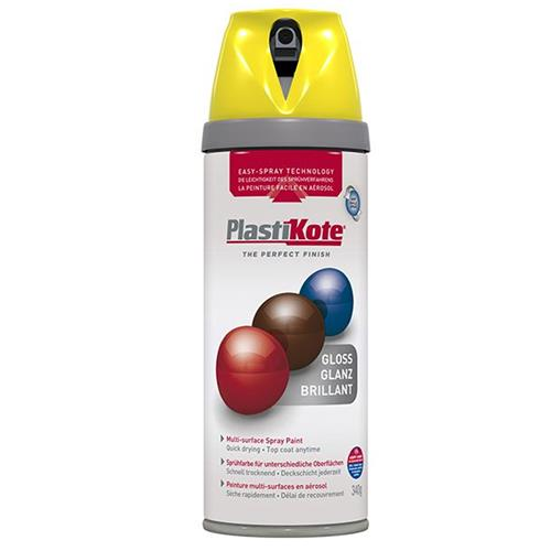 Plastikote Twist & Spray Gloss 400ml New Yellow