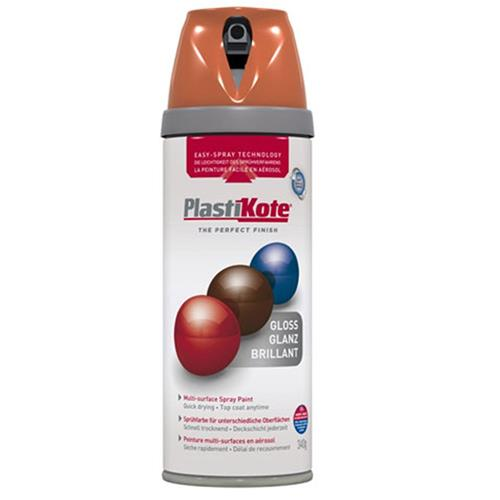 Plastikote 21106 Twist & Spray Gloss 400ml Orange
