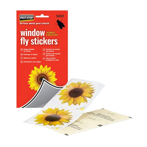Pest-Stop Window Fly Stickers - Pack of 4