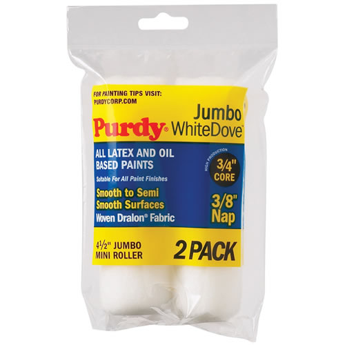 Purdy 4.5'' 3/8 White Dove Sleeve 2 pack