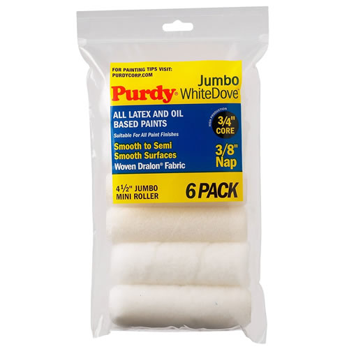 Purdy 140624612 Purdy 4.5'' 3/8 White Dove Sleeve 6 pack
