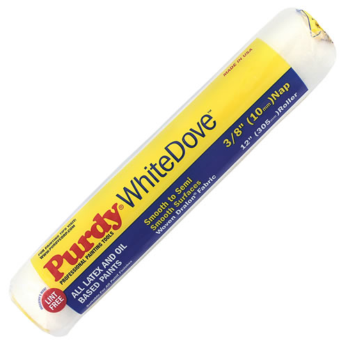 Purdy 140670122 Purdy 12'' White Dove Roller Sleeve 1½'' core, 3/8'' Pile