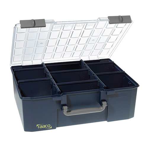 Raaco 136341 CarryLite 150-9 Service Case - 8 Dividers