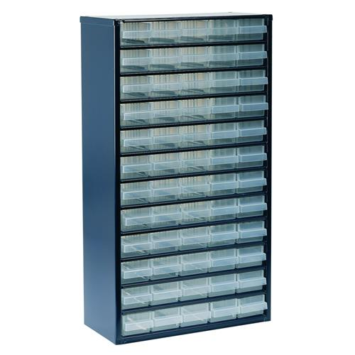 Raaco 137386 1200 Series Small Parts Storage Cabinet with 60 Drawers