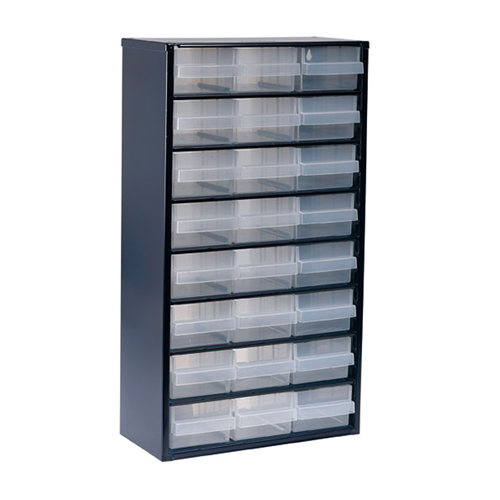 Raaco 137409 1200 Series Small Parts Storage Cabinet with 24 Drawers