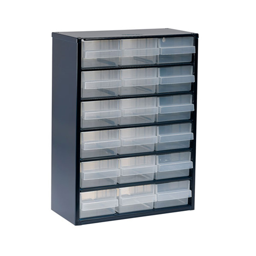 Raaco 137478 900 Series Small Parts Storage Cabinet with 18 Drawers