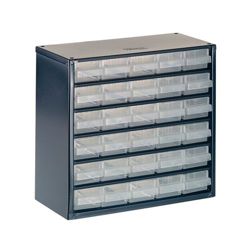 Raaco 137539 600 Series Small Parts Storage Cabinet with 30 Drawers