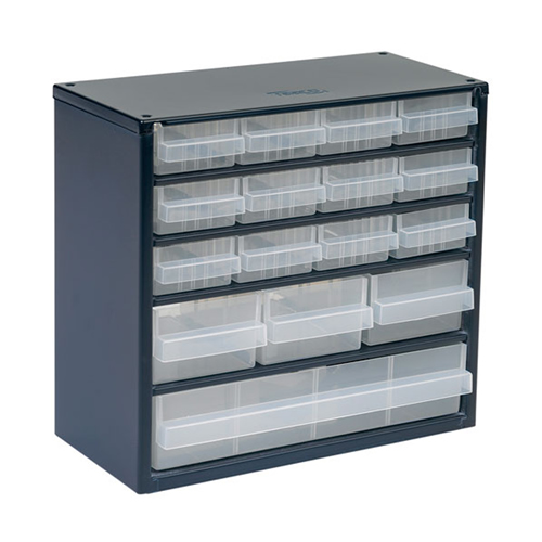 Raaco 137560 600 Series Small Parts Storage Cabinet with 16 Drawers