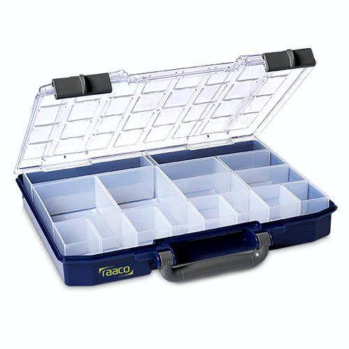 Raaco 143615 CarryLite 55 Service Case with 16 Assorted Inserts