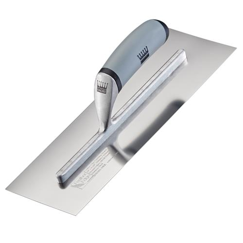 Ragni R618S11HL Feather Edge 11'' Hi-Lift Handle Part Worn Stainless Steel Finishing Trowel