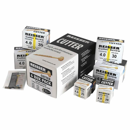 Reisser 6 BOX Reisser Cutter Starter Pack - 500 Screws