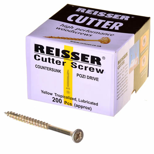 Reisser 8221S220600802 Reisser Cutter Wood Screws 6.0 x 80mm - Box of 100