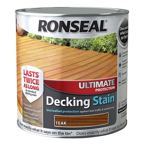 Ronseal Ultimate Protection Decking Stain 5L Teak