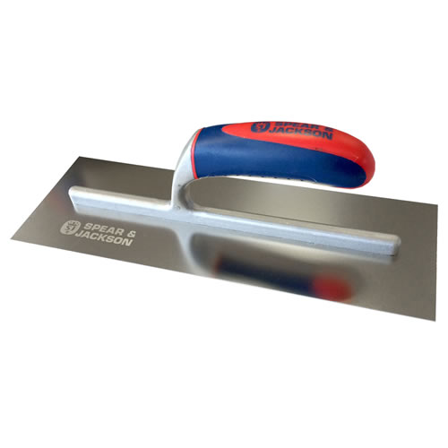 Spear & Jackson 10613SF Spear and Jackson 13'' Soft Touch Stainless Finishing Trowel