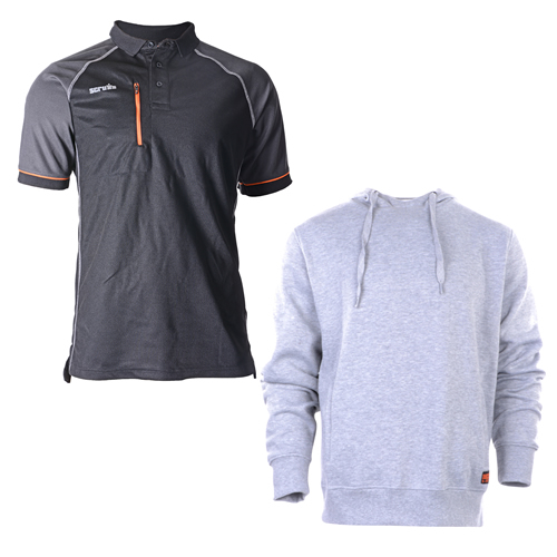 Hoodie & Polo Shirt Set - Black/Grey