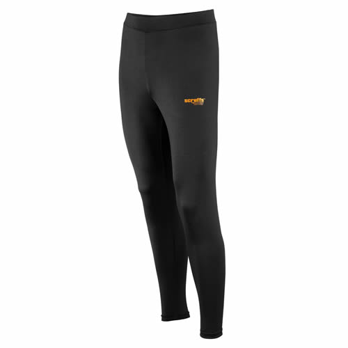 Scruffs T5137 Scruffs Active PRO Base Layer Work Bottoms (Black)