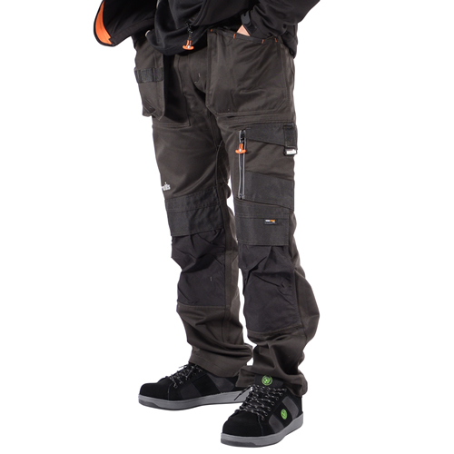 Scruffs T5193-DGR Scruffs 3D Trade Work Trousers with Holster Pockets - Graphite