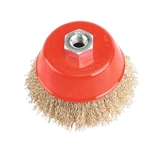 Sealey CBC100 Sealey Ø100mm Brassed Steel Cup Brush M14 Thread
