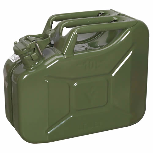 Sealey JC10G Sealey Jerry Can 10ltr - Green