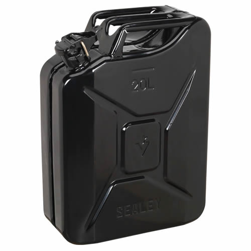 Sealey JC20B Sealey Jerry Can 20ltr - Black