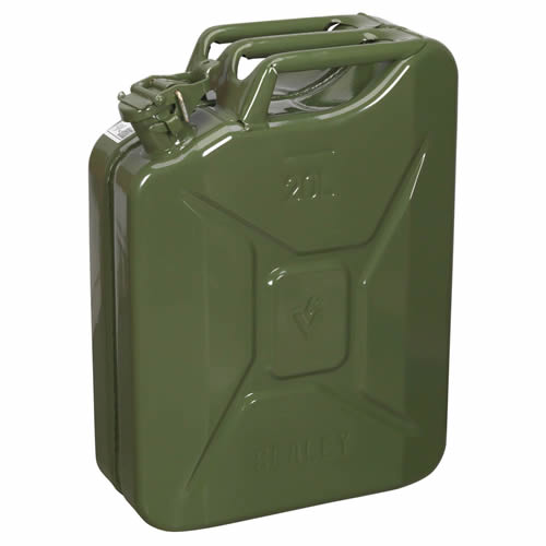 Sealey JC20G Sealey Jerry Can 20ltr - Green