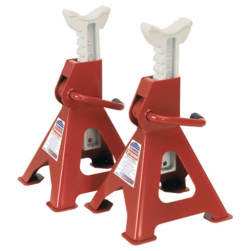 Sealey VS2003 Sealey Axle Stands Ratchet Type 3 Tonne Capacity (Pair)