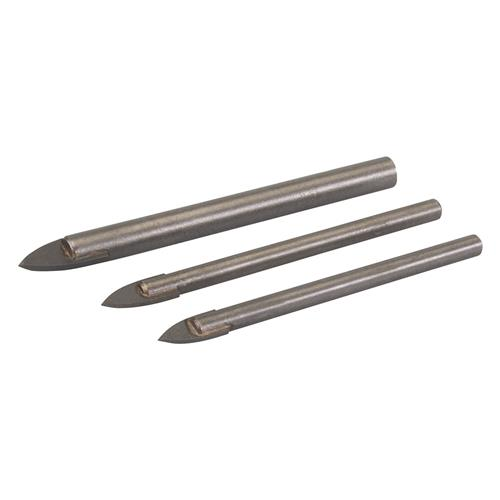 Silverline 217584 Tile & Glass Drill Bit 3 Piece Set 5,6,8mm