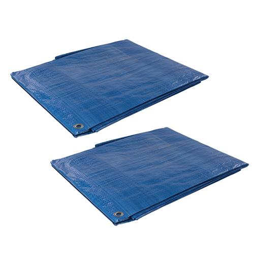Silverline 633522PK2 Tarpaulin 6.1 x 9m Pack of Two