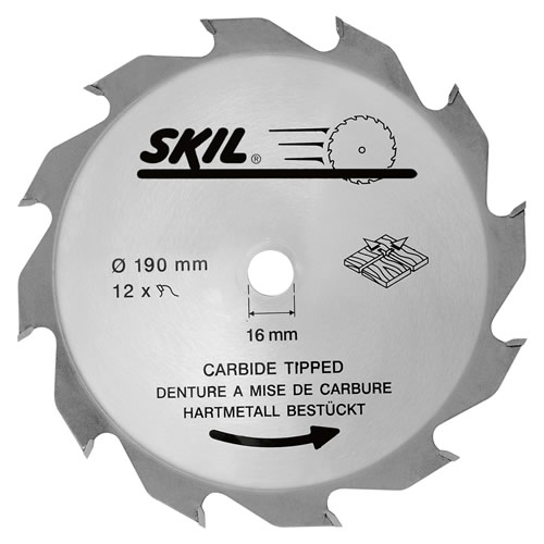 Skil 26010393614 Skil Masters 190mm Tungsten Carbide Tipped Blade (Coarse Cut)