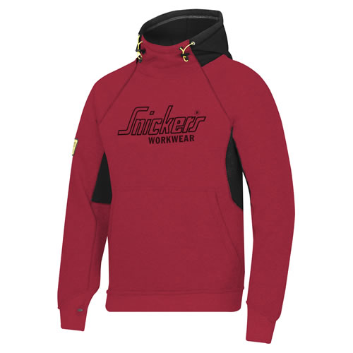 High Neck Logo Hoodie (Red) Extra Extra Large (52'' Chest)