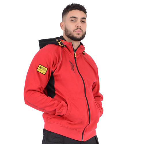 Zipped Sweatshirt Hoodie - Red