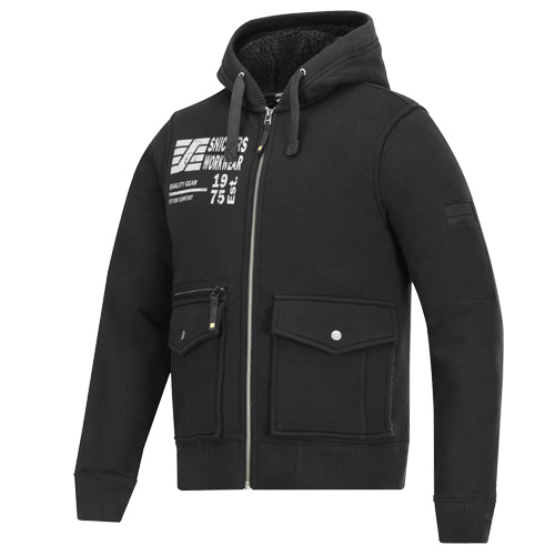 Snickers 28170400 Snickers Zipped Sweatshirt Hooded Jacket (Black)