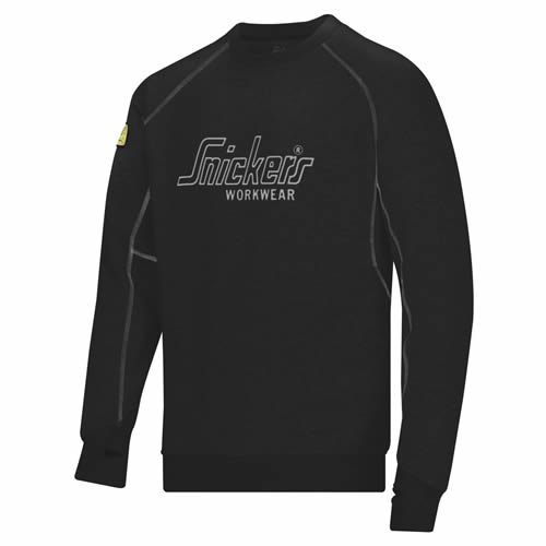 Snickers 28200400 Snickers Long Sleeve Logo Sweatshirt (Black)